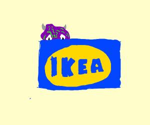 Monster hidden behindIKEA logo