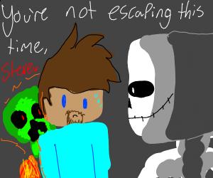 skeleton kills steve