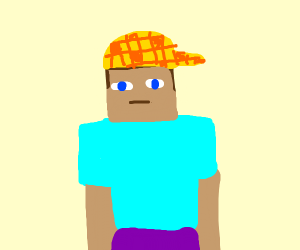 Douchebag steve from minecraft