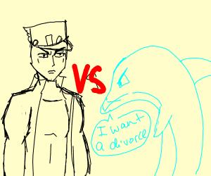 Jotaro fights dolphin