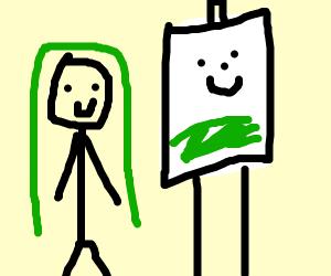 Palutena becomes a painter