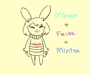 Minun as Frisk