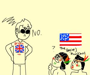 british boi dont like the native americans