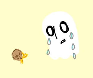 a sad ghost mourns his dead rose
