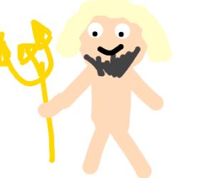 Bearded blonde man