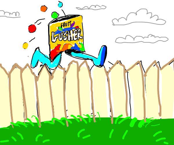 gushers packet jumps over fence