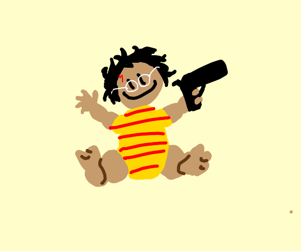 Harry potter baby with a gun