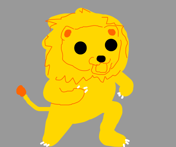 This looks like a Lion version of Pedobear...