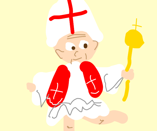 pope as an anime girl