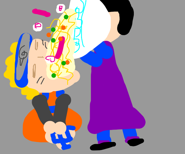 naruto opens his mouth for ramen