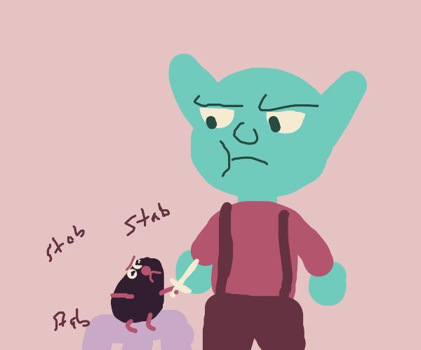 mole attacks goblin