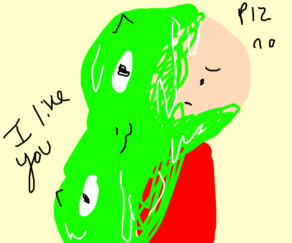 Friendly slime creeps out antisocial guy