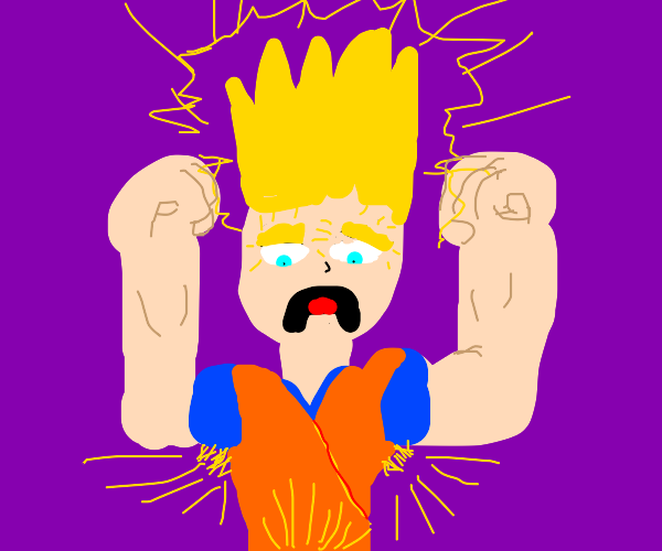 Super Sayan gone all wrong.