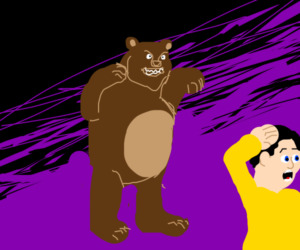 Help! A bear!