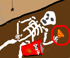 Dorito on the floor for 10 years