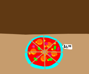 Neon pizza for 6.99