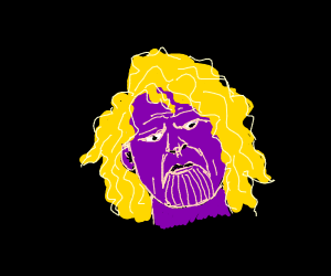 thanos with a blonde wig