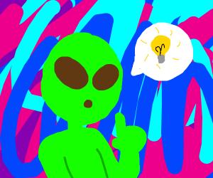 alien has an idea