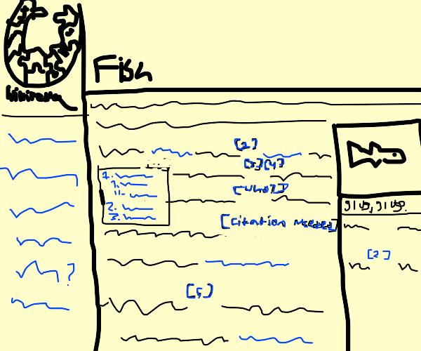 Wikipedia article on fish