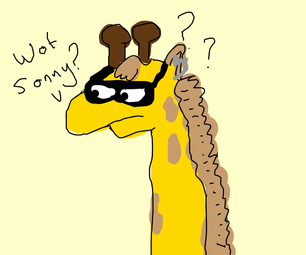 Giraffe gets confused in its old age