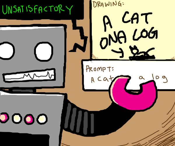 Robot teaches proper Drawception etiquette
