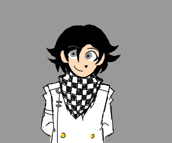 the guy from danganronpa w/ the checker scarf