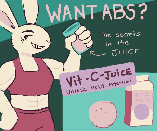 Gym bunny orange juice ad campaign