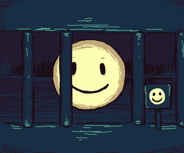 Smiley Face in a cage