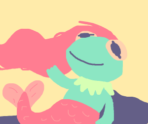 Kermit the Frog as a mermaid