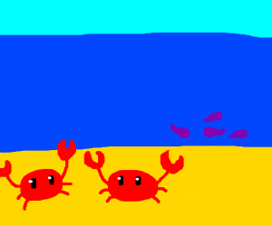 Red crabs and purple tadpoles