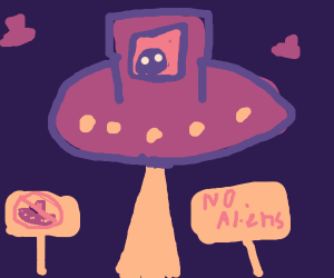 aliens in a no alien zone