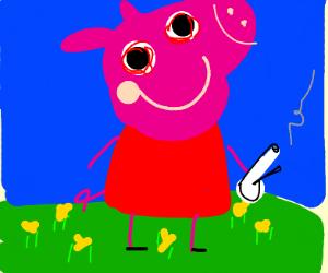 Peppa pig is high