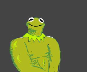 Kermit is smug bc he is buff af