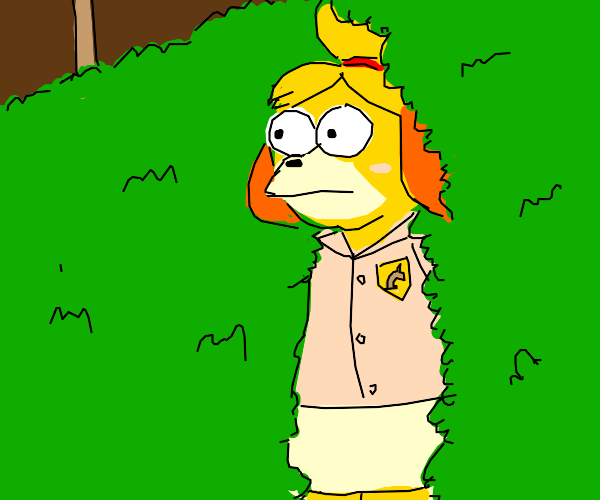 Isabelle from Animal Crossing simpsonish