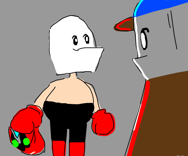 Strongbad removes mask. Homestar is shocked