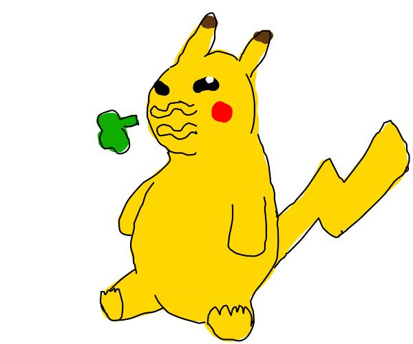 Pikachu burping