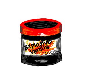 New! Explosive Vanilla Ice Cream!