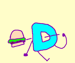 drawception D is consuming burger