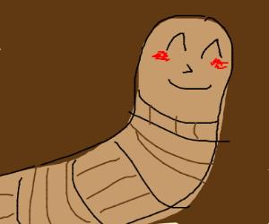 happy worm blushing