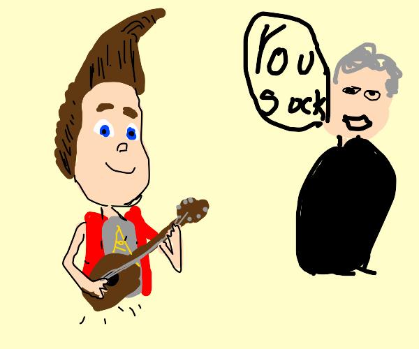 Jimmy Neutron plays guitar, man says he sucks
