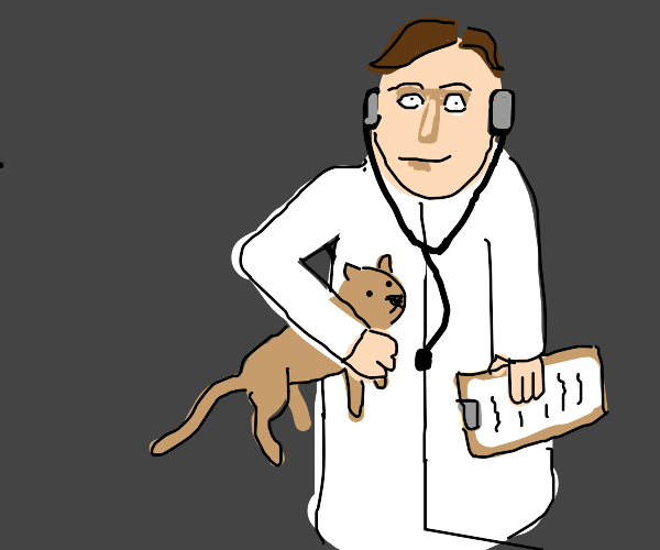 Cat and a doctor