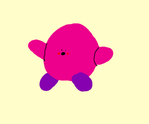 Kirby with tiny face