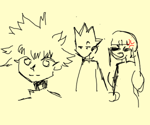 Gon preferes Killua over splatoon squid