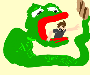 Pepe the Snake about to vore someone
