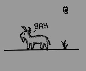 A Pixel Dots Goat