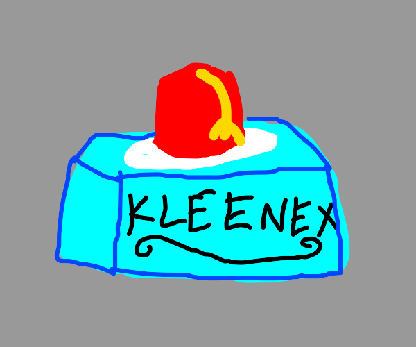 Tissue box with a fez