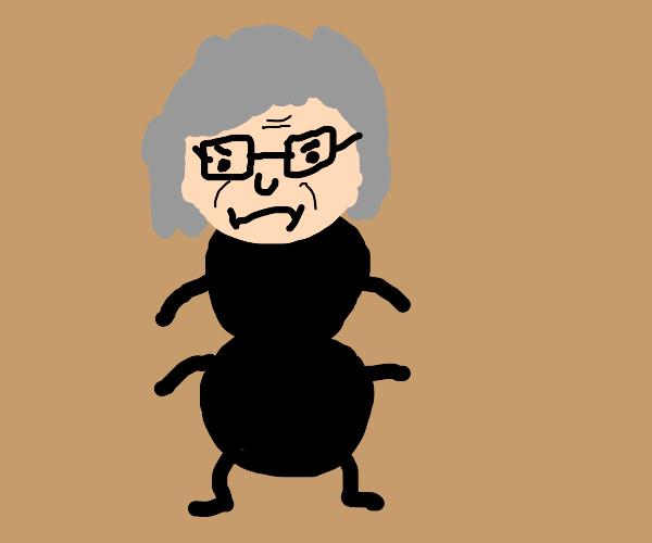 ant with grandma head