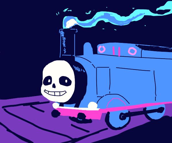 Sans is a train