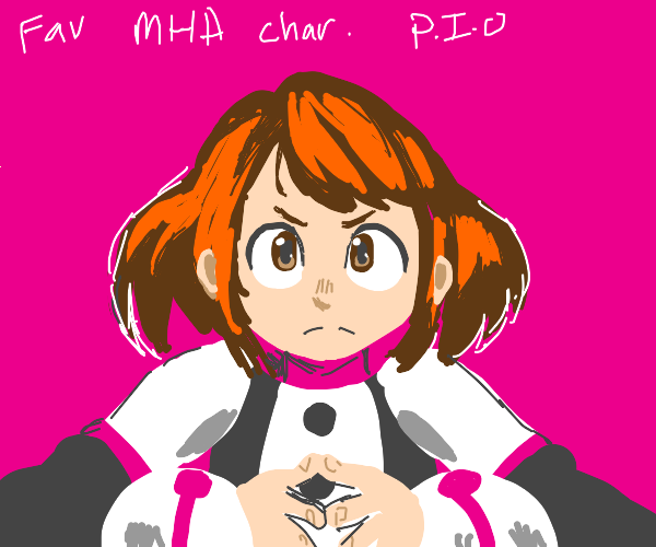 fave bnha character (pio)