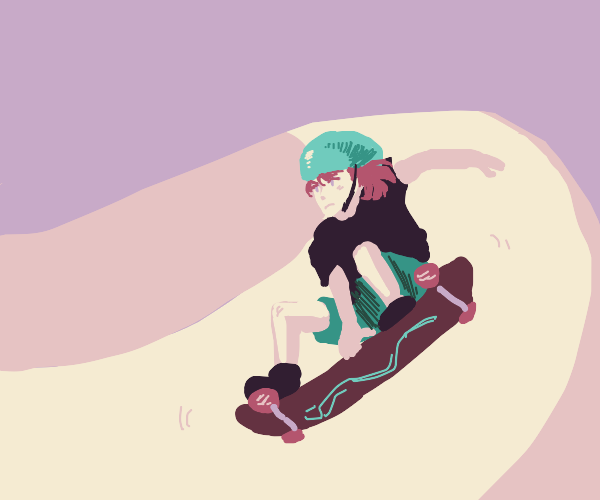 a girl riding a skateboard
